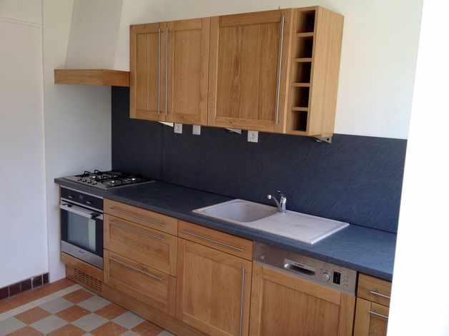 cuisine chene massif moderne - le bois chez vous